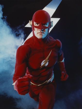 Flash Running Pose with Flash Icon in Background Photo by  Movie Star News