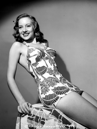 Evelyn Keyes on a Printed Dress and Reclining Pose Photo by  Movie Star News