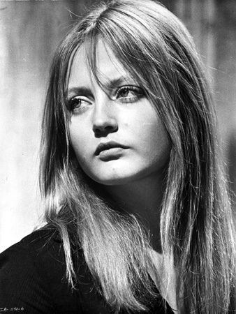 Ewa Aulin Portrait in Black and White Photo by  Movie Star News