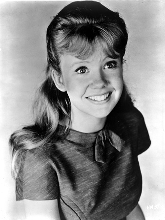Hayley Mills Looking Up and smiling in a Dress Photo by  Movie Star News