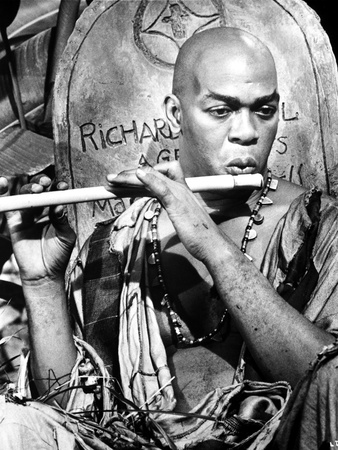Geoffrey Holder Playing Flute Photo by  Movie Star News