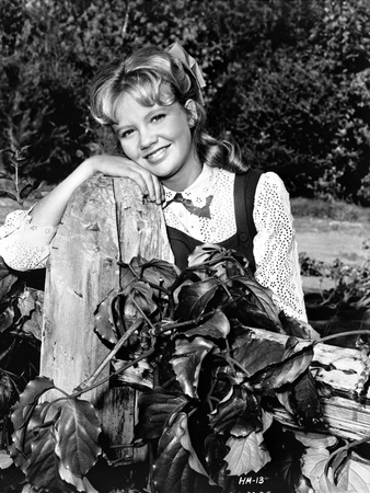 Hayley Mills wearing a Printed Blouse and Leaning on a Ruined Post Photo by  Movie Star News