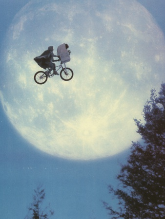 Et Flying Bicycle Portrait Photo by  Movie Star News