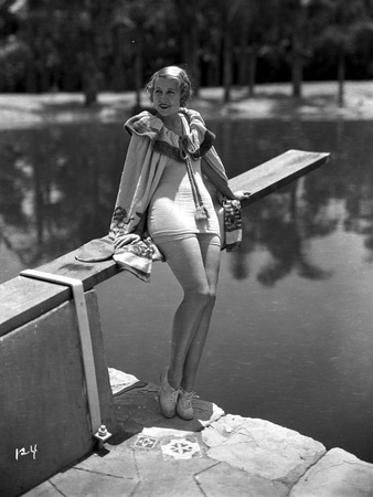 Genevine Tobin Seated on Diving Board Photo by  Movie Star News