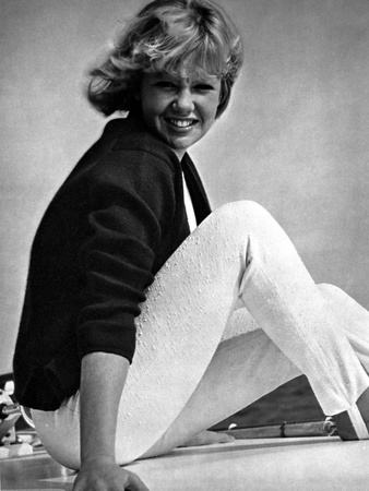 Hayley Mills sitting in a Black Blouse with Hands on Side Photo by  Movie Star News