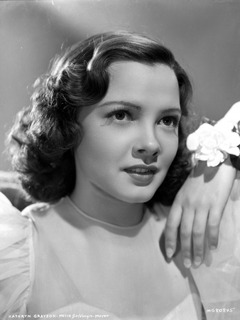 Kathryn Grayson on a Lace Dress Portrait Photo by  Movie Star News
