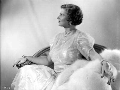 Irene Castle Looking Up on a Chair with Hands on Arm Rest Photo by  Movie Star News