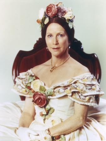 Julie Harris Portrait in White Dress Photo by  Movie Star News