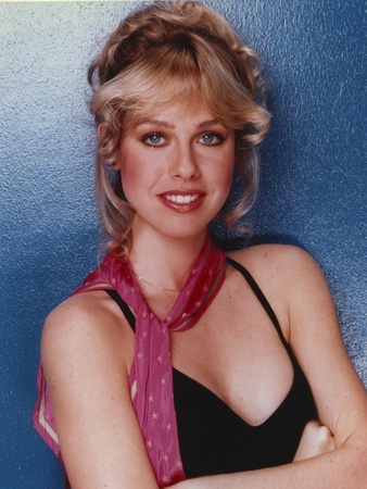 Jenilee Harrison Posed in Red Printed Handkerchief Photo by  Movie Star News