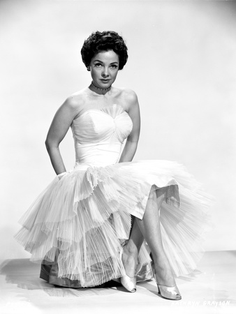 Kathryn Grayson on a Dress with Lace Skirt sitting on a Chair Photo by  Movie Star News