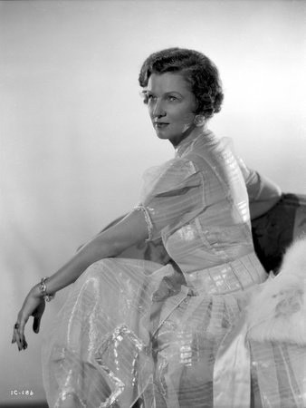 Irene Castle sitting in Sideview Pose in Shining and See Through Gown Photo by  Movie Star News