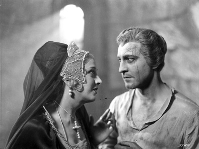 John Barrymore Talking with a Woman in a Classic Portrait Photo by  Movie Star News