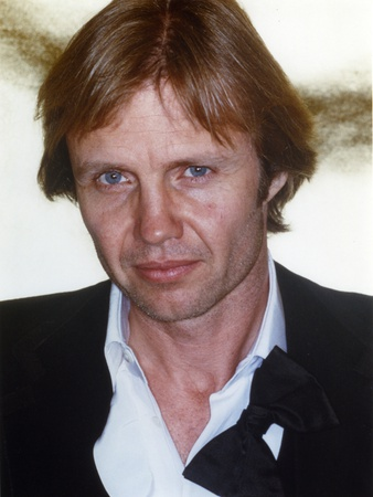 Jon Voight wearing a Black Suit with a White Undershirt Photo by  Movie Star News