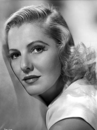 Jean Arthur on a White Top Portrait Photo by  Movie Star News