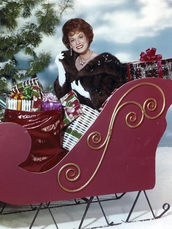 Maureen O'Hara Posed in Christmas Theme Photo by  Movie Star News