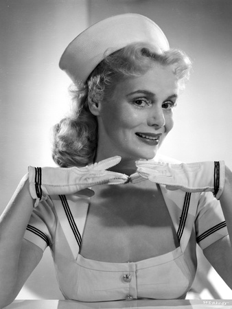 Marie Wilson Posed in White Sailor Dress with Hands on Chin Photo by  Movie Star News