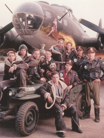 Matthew Modine Group Picture wearing Black Leather Jacket with an Airplane Photo by  Movie Star News