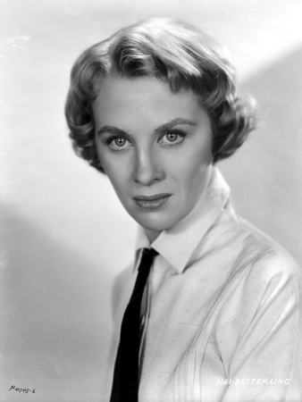 Mai Zetterling Posed in White Long Sleeve with Necktie Photo by  Movie Star News