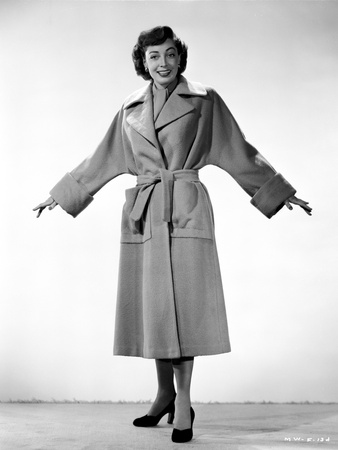 Marie Windsor Posed in Coat with Arm's Wide Open Photo by  Movie Star News