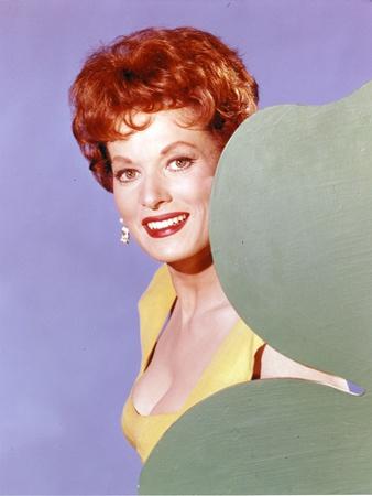 Maureen O'Hara in Yellow Dress Portrait Photo by  Movie Star News