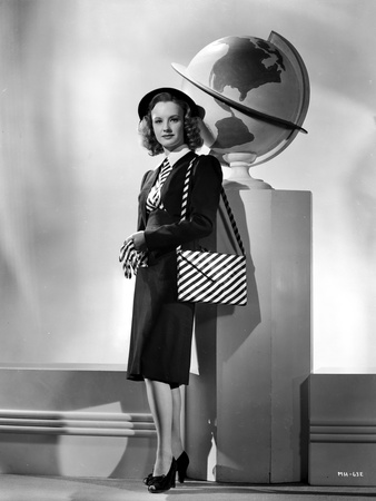 Martha Holliday on a Stripe Bag and standing Portrait Photo by  Movie Star News