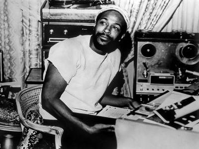 Marvin Gaye sitting Portrait Foto av  Movie Star News