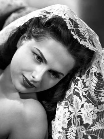 Martha Hyer on an Embroidered Veil Photo by  Movie Star News