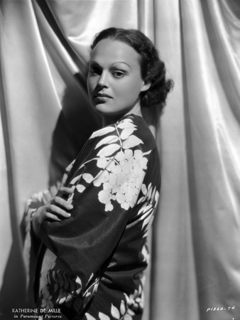 Katherine De Mille Posed in Classic Photo by  Movie Star News