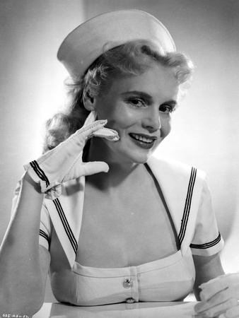 Marie Wilson smiling in White Sailor Dress Classic Portrait Photo by  Movie Star News