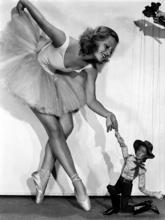 Lillian Harvey on a Ballet Dancer Attire Swaying her Skirt Portrait Photo by  Movie Star News