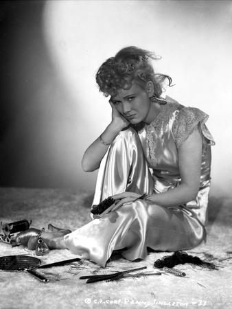 Penny Singleton Seated wearing Silk Dress Photo by  Movie Star News