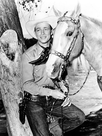 Roy Rogers Posed in Cowboy Outfit with Horse Photo by  Movie Star News
