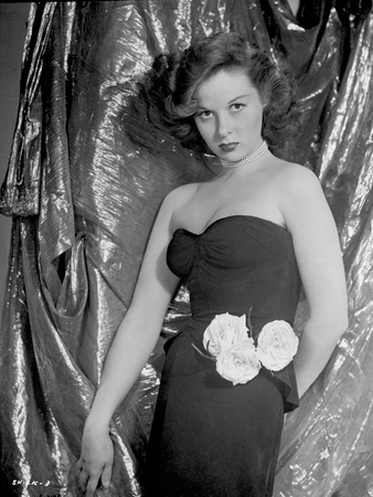 Susan Hayward Pose in Black Gown Photo by  Movie Star News