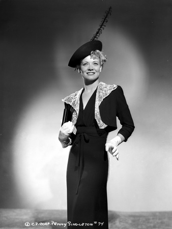 Penny Singleton Posed in Black Dress with Feather Hat Portrait Photo by  Movie Star News