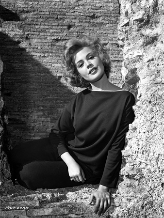 Sandra Dee wearing Black Fit Long Sleeve Photo by  Movie Star News