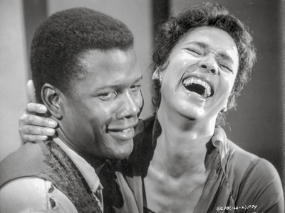 Porgy And Bess smiling in Black and White Close Up Couple Portrait Photo by  Movie Star News