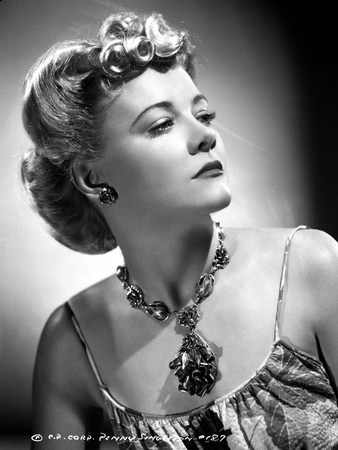 Penny Singleton Looking Away wearing Flower Necklace Portrait Photo by  Movie Star News