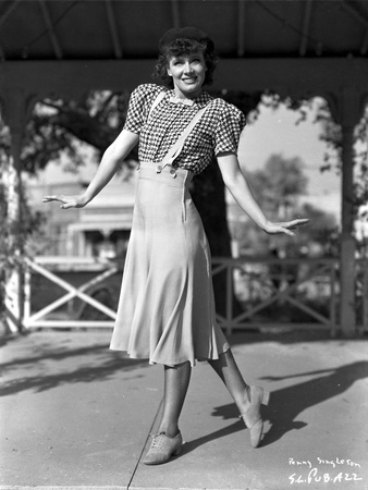 Penny Singleton Posed in Checkered Blouse and Skirt Photo by  Movie Star News