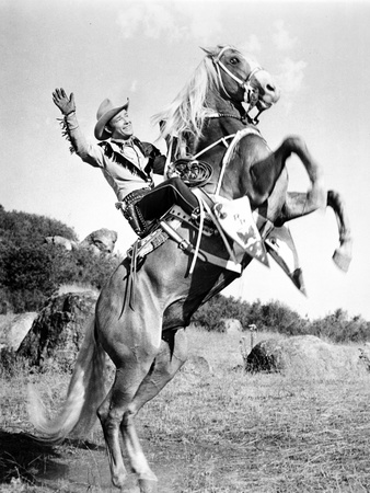 Roy Rogers Posed and Rearing a Horse Photo by  Movie Star News