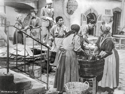 Porgy And Bess Scene of People Fetching Water from Well Excerpt from Film Photo by  Movie Star News