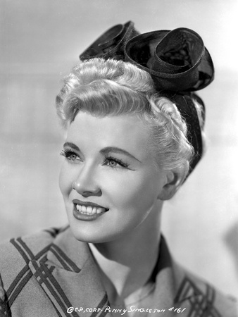 Penny Singleton smiling wearing Flower Head Band Close Up Portrait Photo by  Movie Star News