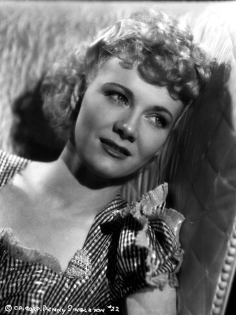 Penny Singleton Leaning wearing Checkered Blouse Close Up Portrait Photo by  Movie Star News