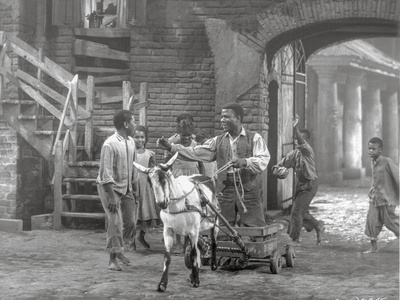 Porgy And Bess Man Riding Horse-drawn Vehicle Scene Excerpt from Film Photo by  Movie Star News