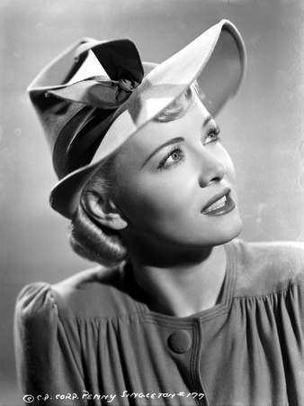 Penny Singleton Looking Up wearing Ribbon Hat Close Up Portrait Photo by  Movie Star News