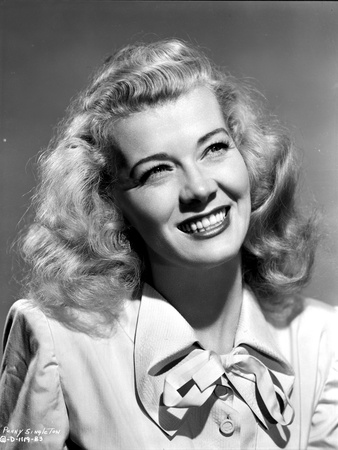 Penny Singleton smiling in Ribbon Dress Close Up Portrait Photo by  Movie Star News