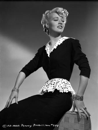 Penny Singleton Seated wearing Black Lace Dress Portrait Photo by  Movie Star News