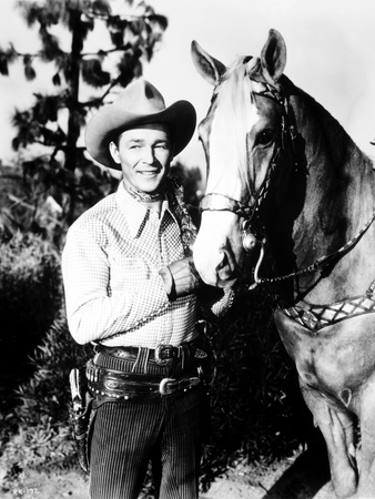 Roy Rogers posed in Portrait with Cowboy Outfit and Horse Photo by  Movie Star News