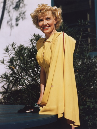 Penny Singleton posed Side View in Yellow Dress Portrait Photo by  Movie Star News