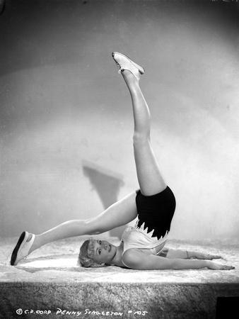Penny Singleton wearing Sexy Sportswear Yoga posed Photo by  Movie Star News