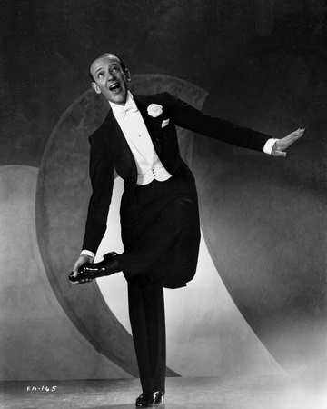 Fred Astaire standing on One Foot in Black and White Photo by E Bachrach